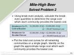 mile high beer solved problem 256