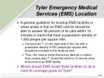 tyler emergency medical services ems location