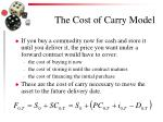 the cost of carry model
