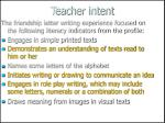 teacher intent