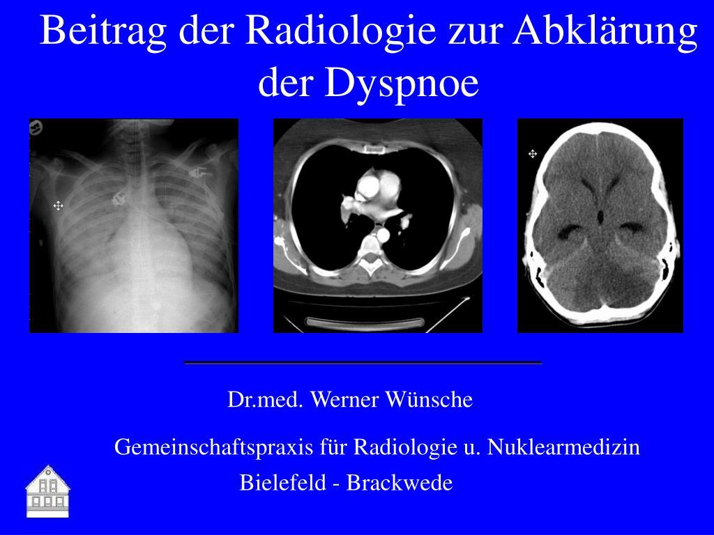beitrag der radiologie zur abkl rung der dyspnoe l.