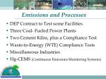 emissions and processes