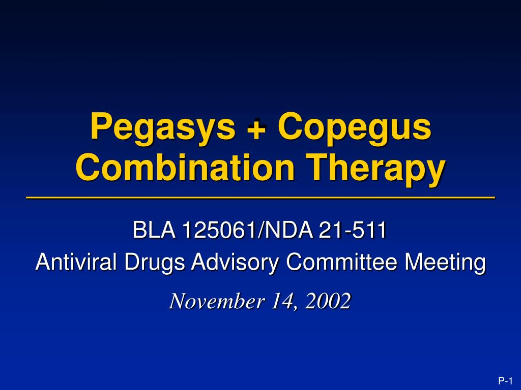 pegasys copegus combination therapy l.