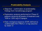 predictability analysis