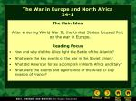 the war in europe and north africa 24 1