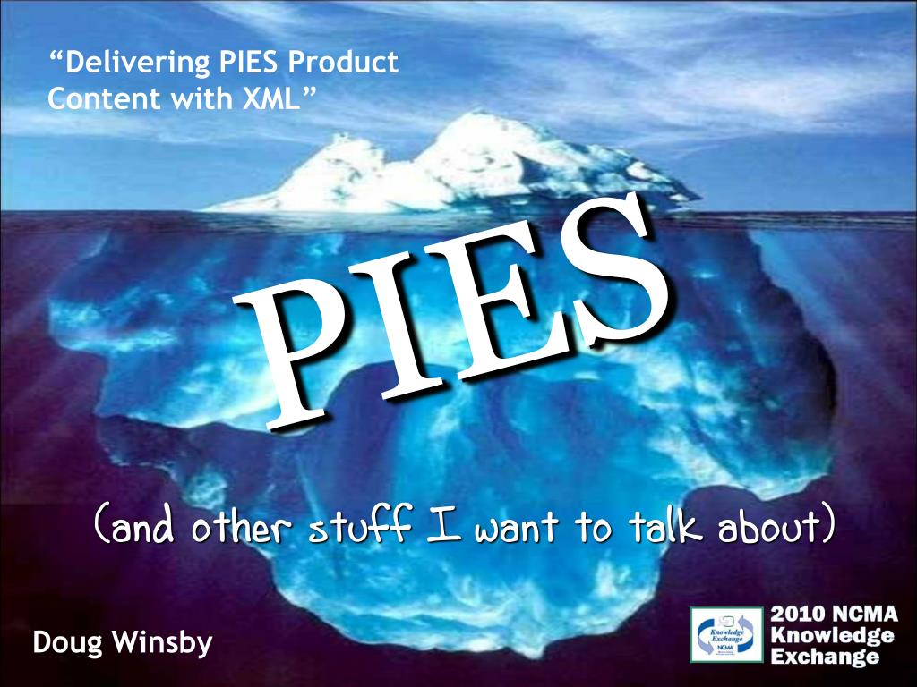 """Delivering PIES Product Content with XML"""