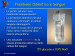pressione osmotica e sangue