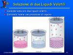 soluzione di due liquidi volatili