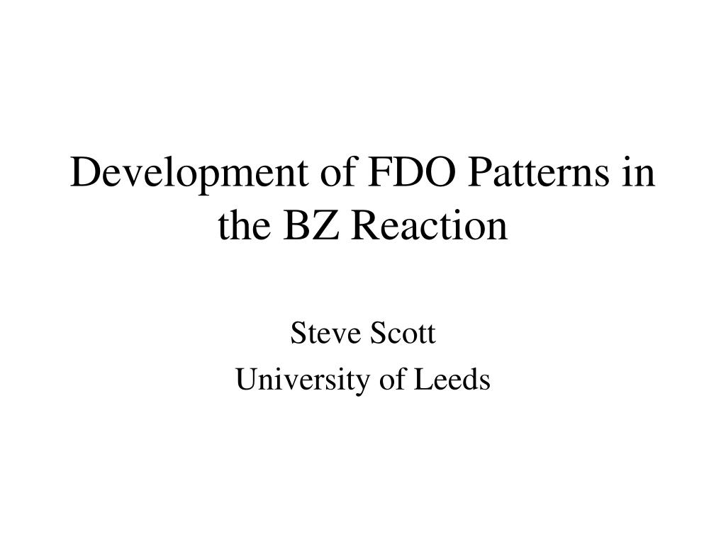 development of fdo patterns in the bz reaction l.