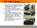 cec a bit of history