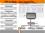 cec at work one touch play