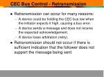 cec bus control retransmission