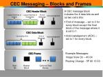 cec messaging blocks and frames