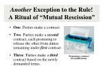 another exception to the rule a ritual of mutual rescission