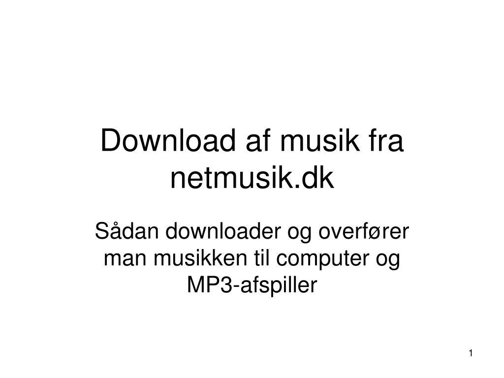 download af musik fra netmusik dk l.