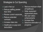 strategies to cut spending