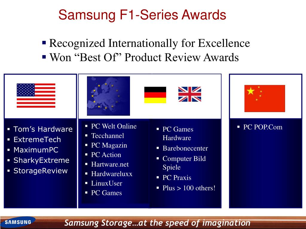 Samsung F1-Series Awards