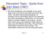 discussion topic quote from john reed 1987