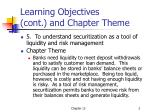 learning objectives cont and chapter theme