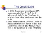 the credit event