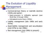 the evolution of liquidity management