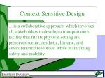 context sensitive design