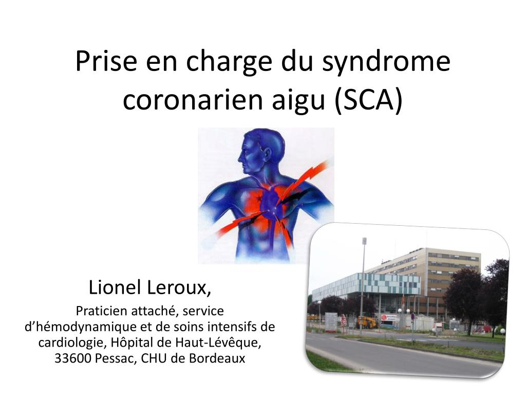 prise en charge du syndrome coronarien aigu sca l.