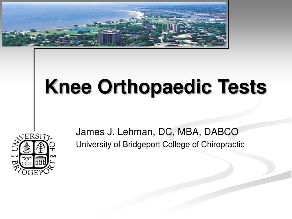 knee orthopaedic tests l.