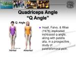 quadriceps angle q angle45