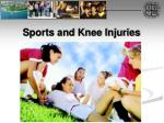 sports and knee injuries