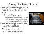 energy of a sound source