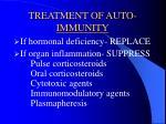treatment of auto immunity