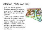 salom n pacto con dios