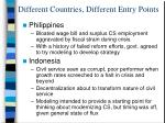different countries different entry points14