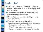 results in eap