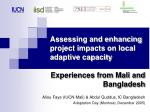 assessing and enhancing project impacts on local adaptive capacity