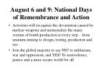 august 6 and 9 national days of remembrance and action49