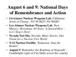 august 6 and 9 national days of remembrance and action50