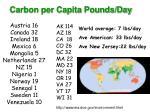 carbon per capita pounds day