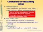 conclusions on outstanding issues