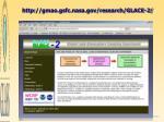 http gmao gsfc nasa gov research glace 2