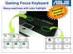 gaming focus keyboard