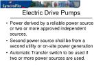 electric drive pumps