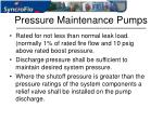 pressure maintenance pumps