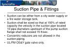 suction pipe fittings