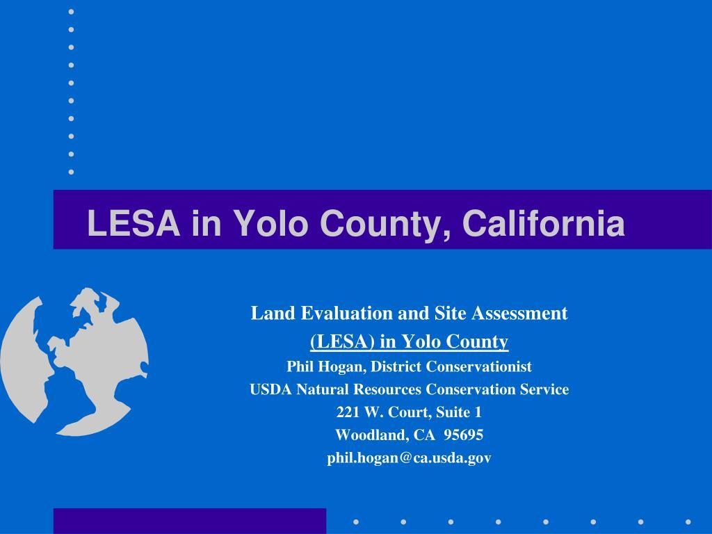 lesa in yolo county california l.