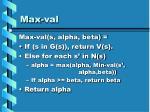 max val