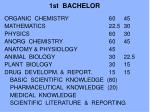 1st bachelor