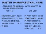 master pharmaceutical care