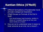 kantian ethics o neill